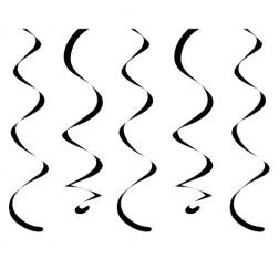 Spiralgirlanden schwarz 10 Stück