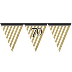 Flaggen Banner 70. Geburtstag Black Gold 3,7m