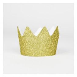 Krone Glitzer Gold 8 Stück