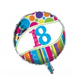 Folienballon 18. Geburtstag Bright & Bold