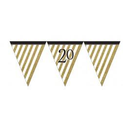 Flaggen Banner Black Gold 20. Geburtstag 3,7m