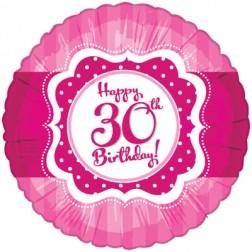 Folienballon Perfectly Pink 30. Geburtstag