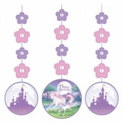 Hängende Deko Unicorn Fantasy 3 Stück