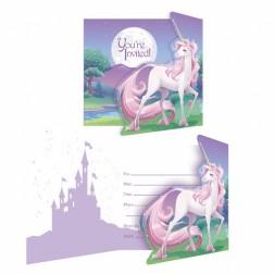 Einladungskarten Unicorn Fantasy 8 Stück