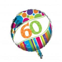 Folienballon 60. Geburtstag Bright Bold