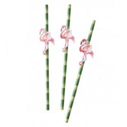 Flamingo Strohhalme  20 Stück
