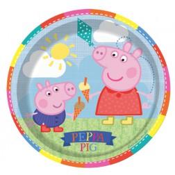 Pappteller Peppa Pig 8 Stück