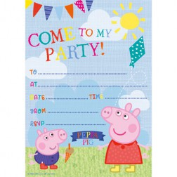 Einladungskarten Peppa Pig 20 Stück