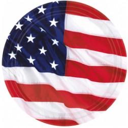 Kleine Pappteller Amerika Party 8 Stück