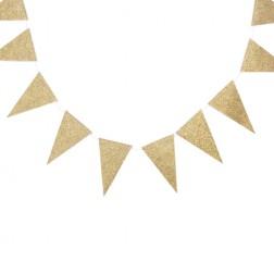 Flaggen Banner Glitter Gold 2,74m