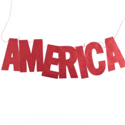 America Banner Rot 60cm