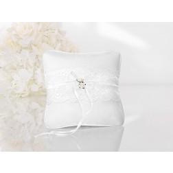 Ringkissen Weissen Blüten 16cm