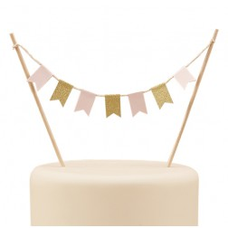 Torten Flaggen Girlande Pastel Perfection