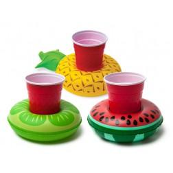 Schwimmringe für Getränke Früchte 3 Stück