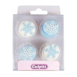 Zuckerdekor Schneeflocken 12 Stück