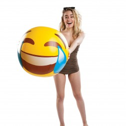 Strandball Emoji Riesenfreudetränen 50cm