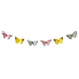 Girlande 12 Schmetterlinge 3m