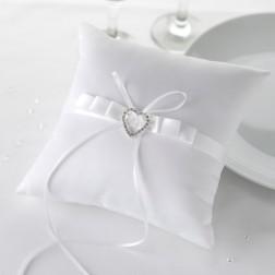 Ringkissen Heart White 18cm