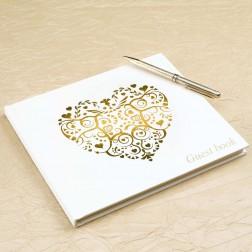 Gästebuch Herz Ivory Gold 22cm