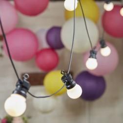 Lichterkette mit 10 LED Birnen UK Stecker 8m