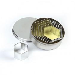 Ausstechformen Set Hexagon 6 teilig
