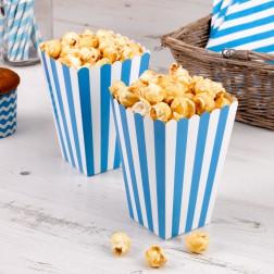 Popcorn Boxen Blau 8 Stück