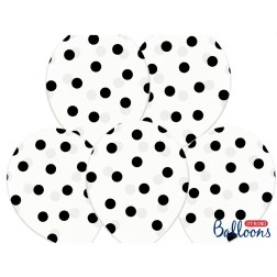 Luftballon Polka Dots durchsichtig 6 Stück