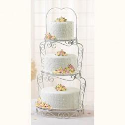 Cake Stand Weiß 3 Etagen