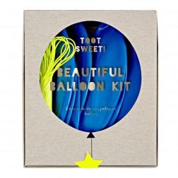 8 Runde Streamers Ballon Blau Set 45cm