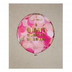 3 Runde Confetti Ballon Set Pink
