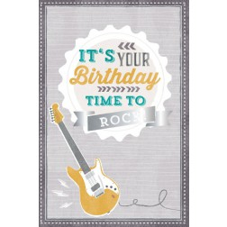 Karte It\'s Your Birthday TIME TO ROCK!