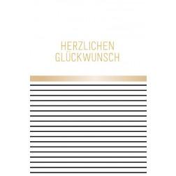 Karte HERZLICHEN GLÜCKWUNSCH