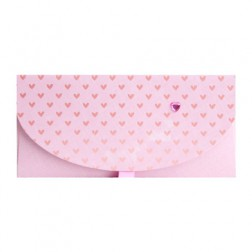 Geschenkumschlag rosa 23 x 11cm