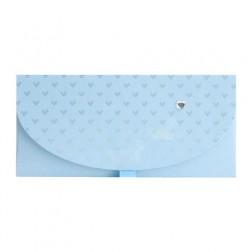 Geschenkumschlag blau 23 x 11cm