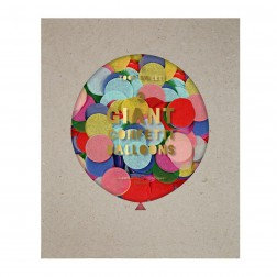 Runde Confetti Ballon Set Bunt 3 Stück