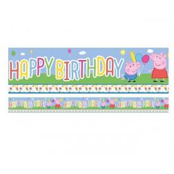 Banner Peppa Pig Happy Birthday 3,65m