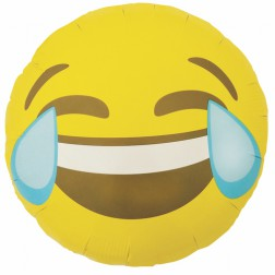 Folienballon Emoji crying laughing 46cm