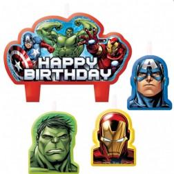 Avengers Geburtstagskerzen 4 Stück