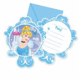 Einladungskarten Cinderella 6 Stück
