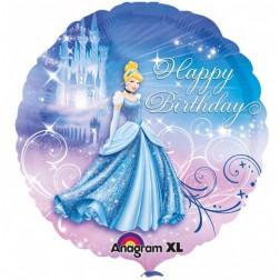 Cinderella Happy Birthday Folienballon 43cm
