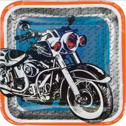 Pappteller Motorrad 8 Stück