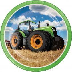 Pappteller Traktor 8 Stück