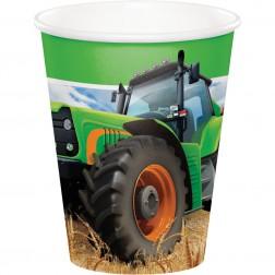 Pappbecher Traktor 8 Stück