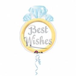 Folienballon Best Wishes 53cm
