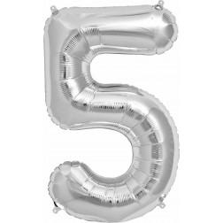 Folien Ballon - Silber Nr 5