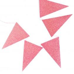 Flaggen Banner Glitter Rosa 2,74m