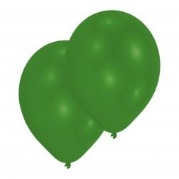 Luftballons Metallic Grün 10 Stück