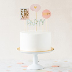 Cake Topper Trend Party Picks 4 Stück