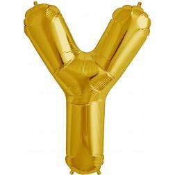 Folienballon Buchstabe Y gold 86cm