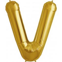 Folienballon Buchstabe V gold 86cm